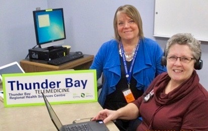 Diane Tetley - Telemedicine Support Specialist (left) &      Dawn Fortier - Fracture Prevention Coordinator at Thunder Bay Regional Health Sciences Centre